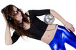 Young woman with disco ball (2)