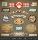 Fototapety Vintage and Retro Design Elements