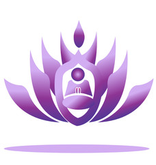 Lotus and yoga vector stock