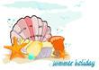 Sommerferien , Muscheln und Seestern