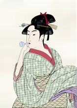 Edo Drzeworyty ukiyo Hui piękne obrazy 02B