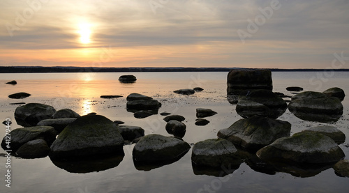 Panoramic sunset on Swedish coast|41279440