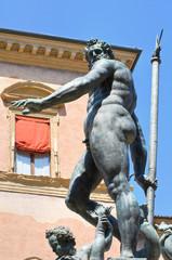Fountain of Neptune. Bologna. Emilia-Romagna. Italy.