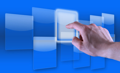 Touch screen blu