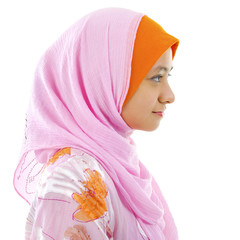 Side view of Muslim woman