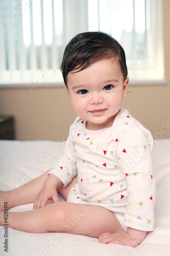 Beautiful baby boy portrait