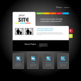 Web site art design template