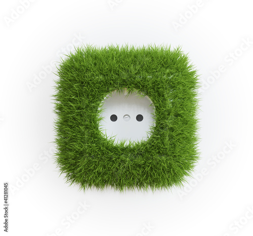 Grass covered outlet