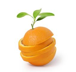 Stack of orange slices