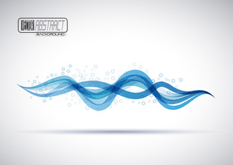 Water Wave With Bubbles Background # Vector