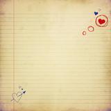 Fototapety love letter