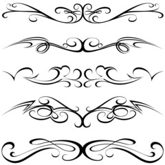 Calligraphic elements - black Tattoo