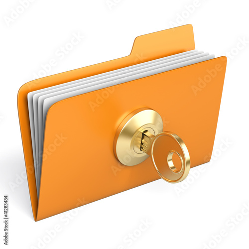 Protected yellow folder