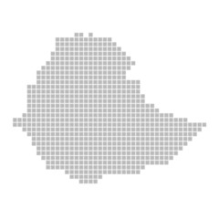 Pixelkarte - Umriss von Äthiopien