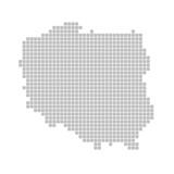Fototapety Pixelkarte - Polen
