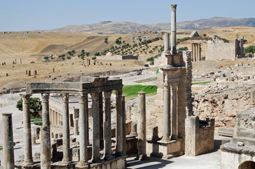 Dougga or Thugga, Ancient Roman city, northern Tunisia