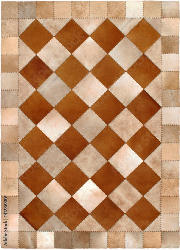 Rectangular Leather Rug