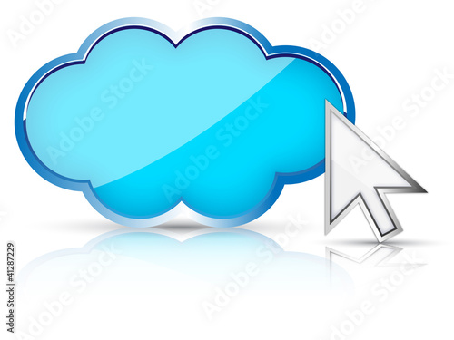 3d cloud & arrow