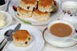 Fruit scones with tea © Arena Photo UK