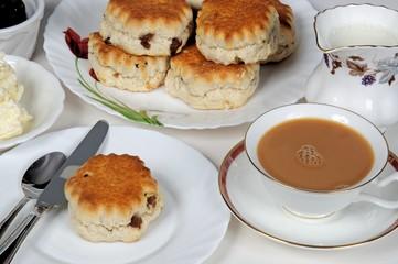 Fruit scones with tea © Arena Photo UK