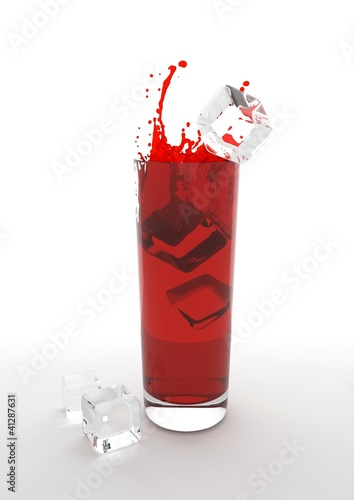 fresh red ice summer drink