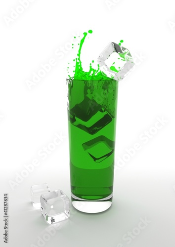 fresh green ice club drink