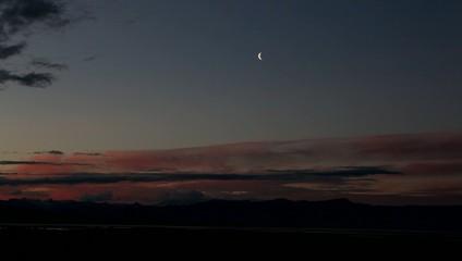 Landschaft bei El Calafate bei Sonnenuntergang