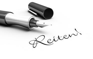 Reiten! - Stift Konzept