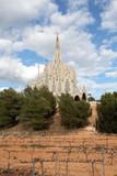 Modernist church in Montferri, Tarragona Spain poster