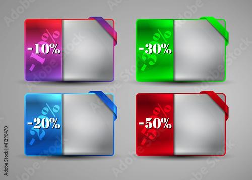 preisschild web shop banner, leuchtend, eps10, mit schleife