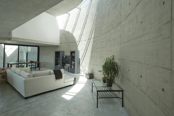 Interior modern house in beton