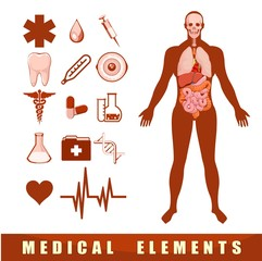 medical elements and gastric system