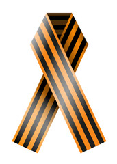 Vector St. George Ribbon isolated on white. Eps10