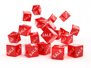 red sale cubes