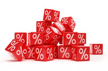 percentage sale cubes