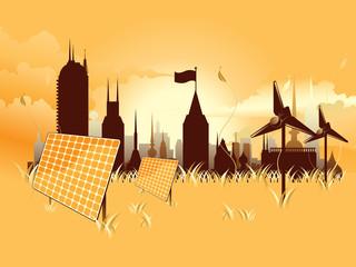 detailed environmental city