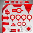 hugh collection of internet shop design elements, eps10 vector