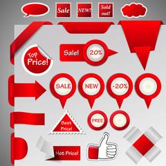 hugh collection of internet shop design elements, eps10 vector