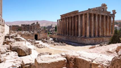Templo de Baco, ruinas de Baalbek, valle de la Bekaa, Líbano