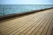 Mer, Arcachon, vacances, terrasse, été, océan, bois