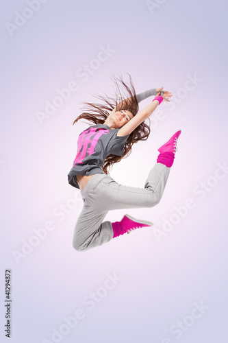 Hip-hop dancer girl