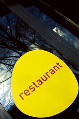 Restaurant, signe, signalétique, bistrot, étiquette