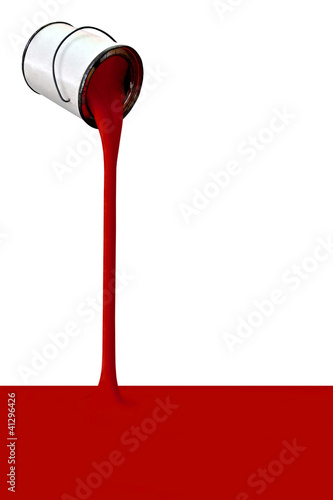 Pouring red ink