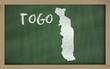 outline map of togo on blackboard