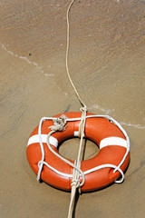 Life buoy with rope