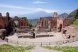 Teatro Greco in Taormina und der Ätna