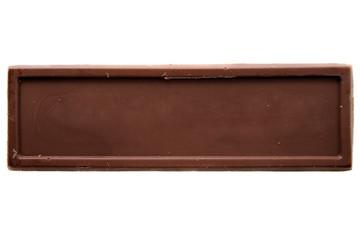 Thin chocolate bar top view