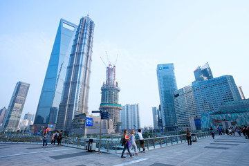 view of lujiazhui in shanghai