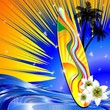 Tavola da Surf Mare Onde-Surf Design on Tropical Seascape