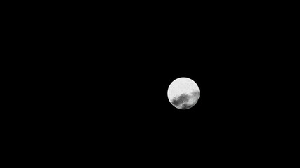 Clouds moving on moon, details on surface visible